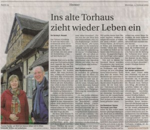 online-Coaching Torhaus Kotelow, Telefoncoaching, Einzelcoaching online, Gruppencoaching online, Ins alte Torhaus zieht wieder Leben ein, Torhaus2015